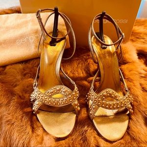 Sergio Rossi Gold sandals